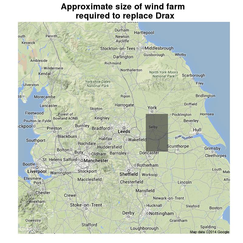 Map Of Uk Power Stations.Replacing Drax Coal Power Plant With A Dirty Great Wind Farm